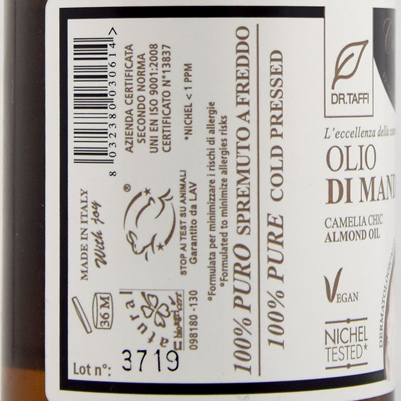 almond oil camelia chic dr-taffi
