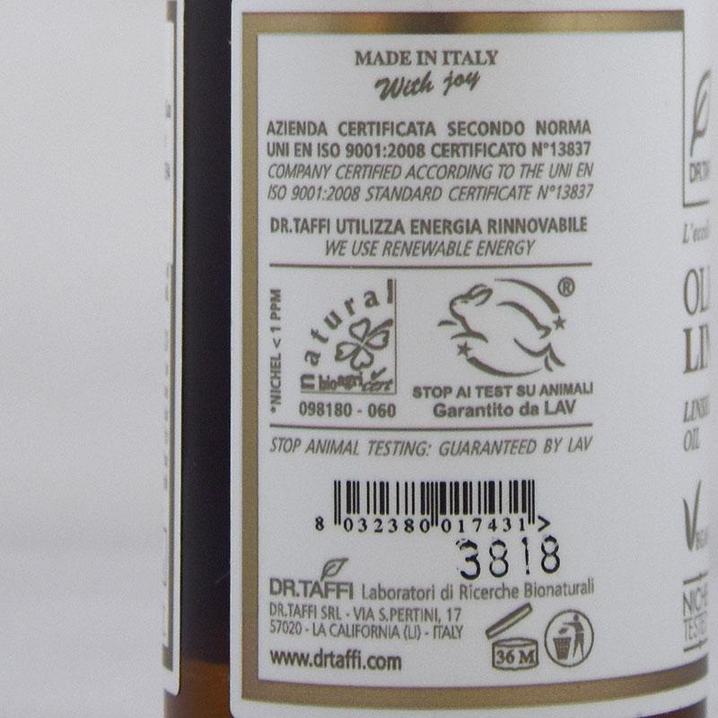 linseed oil vegan dr taffi