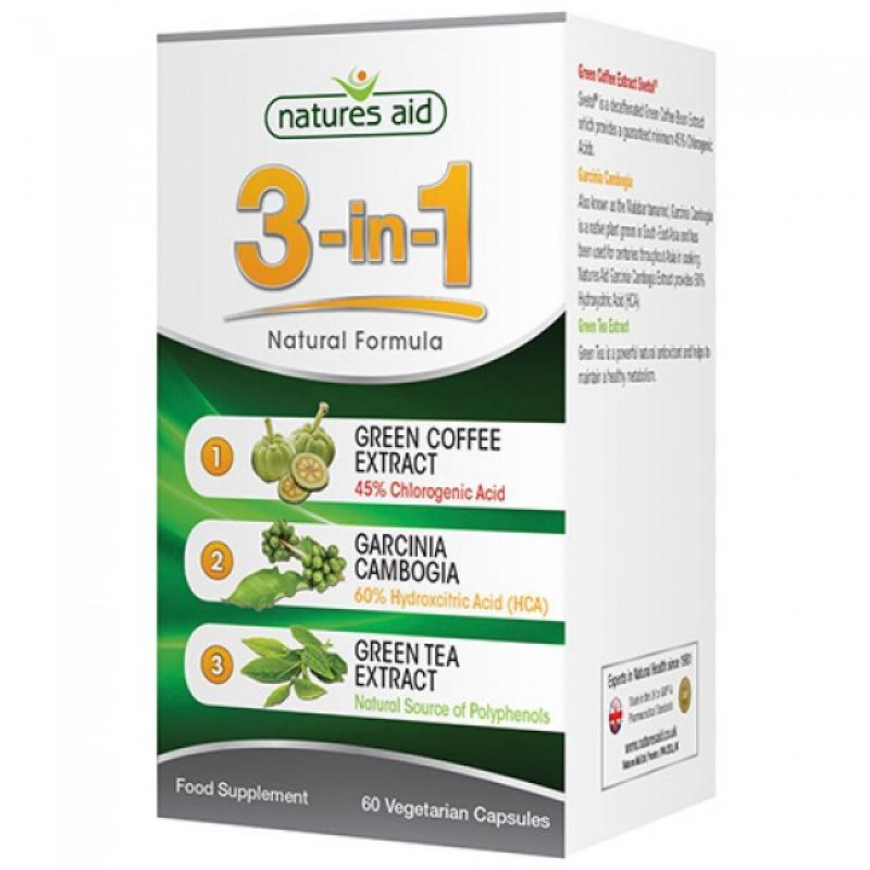Natures Aid 3-in-1 Natural Formula 60 φυτικές κάψουλες