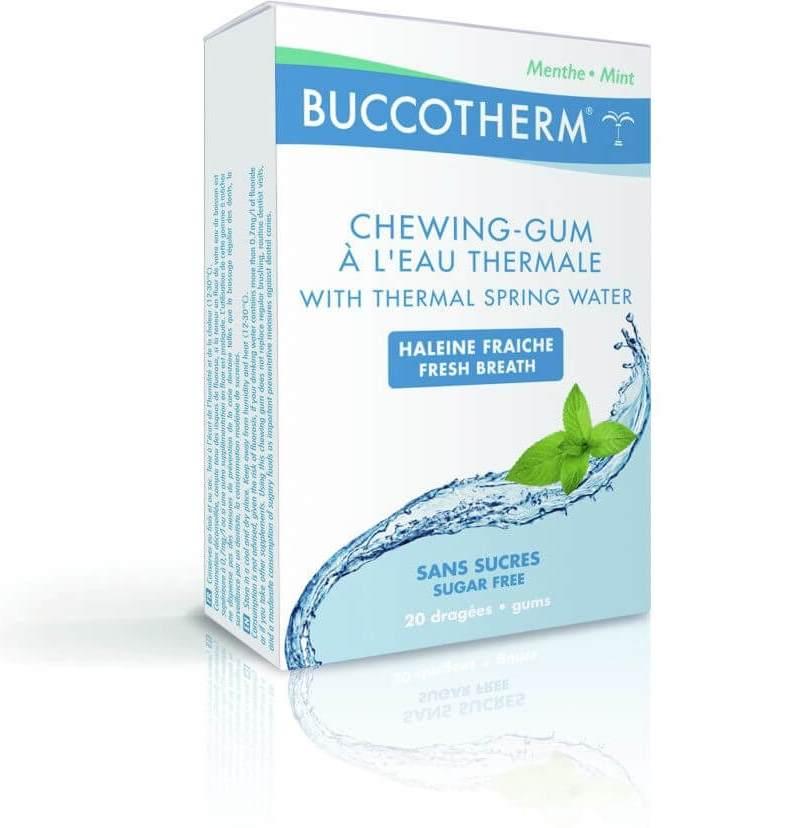 Buccotherm Organic Chewing Gum Τσίχλα για αντικατάσταση βουρτσίσματος 20 τμχ