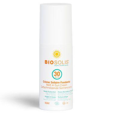Biosolis Βραβευμένο βιολογικό αντηλιακό Melt-in Cream spf30 100ml