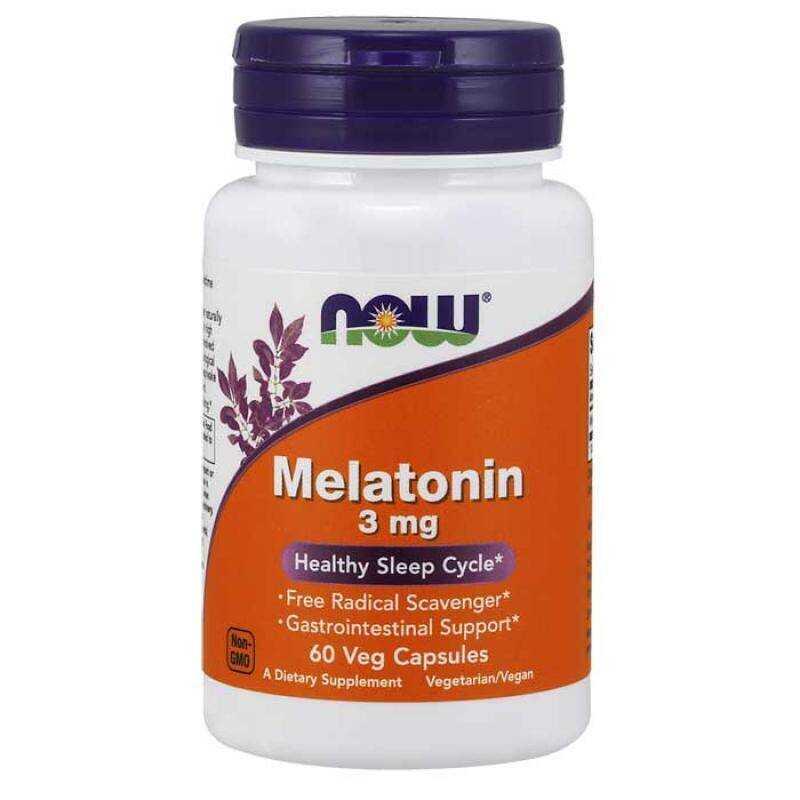 Now Foods Melatonin 3mg 60 κάψουλες
