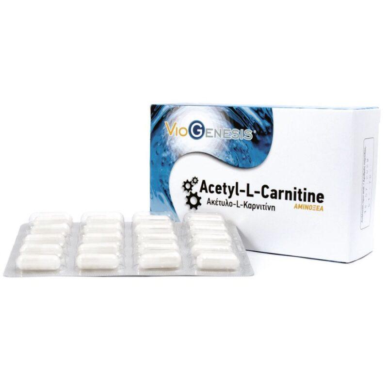 Viogenesis Acetyl L-Carnitine 350 mg 60 κάψουλες - Λήγει 15/7/21
