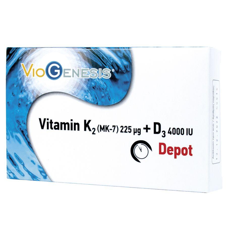 Vitamin K2 + D3 Depot - 60 Ταμπλέτες