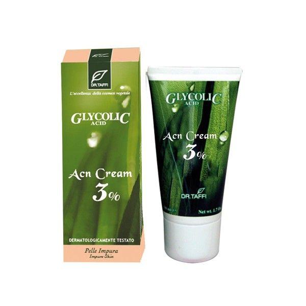 Dr.Taffi Κρέμα Καθαρισμού Organic ACN Cream 3% 50ml
