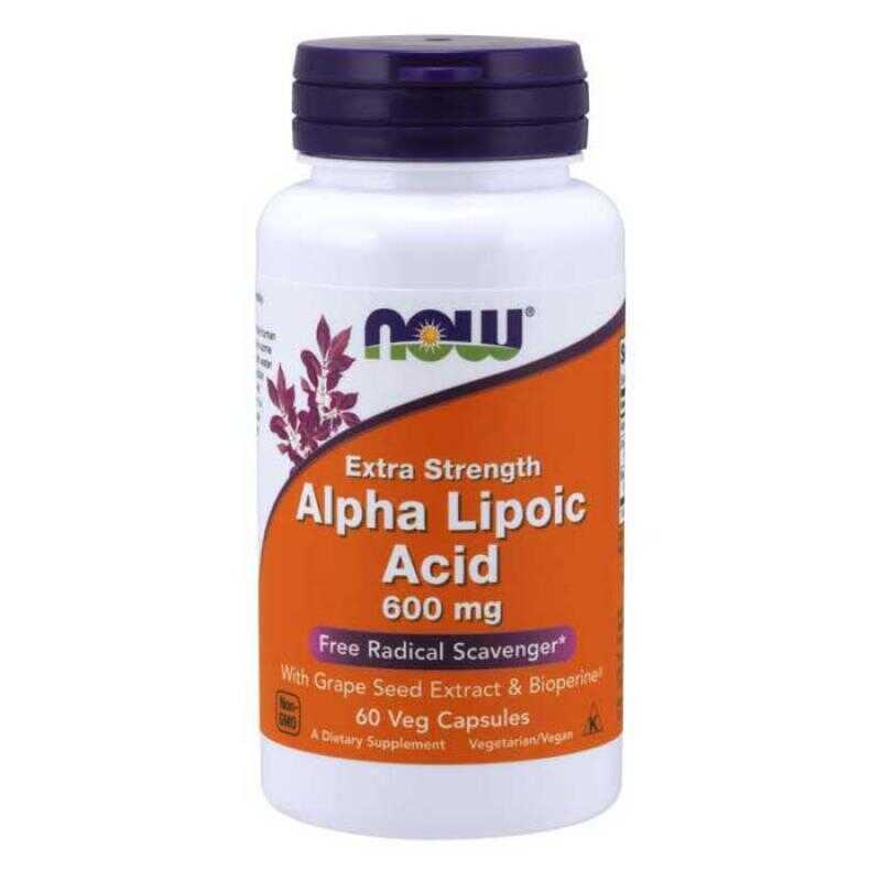 Now Foods Alpha Lipoic Acid 600mg 60 κάψουλες