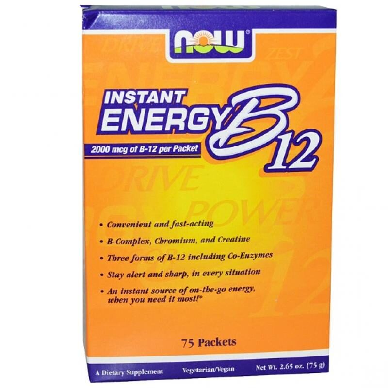 Now Foods Instant Energy B12 2000 mcg 75 φακελάκια