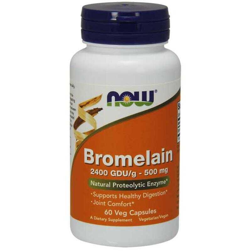 Now Foods Bromelain 2400 GDU/g 500mg 60 κάψουλες