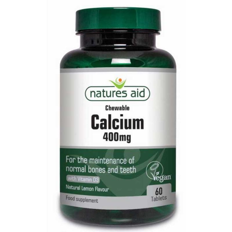 Natures Aid Calcium 400mg 60 ταμπλέτες Λεμόνι