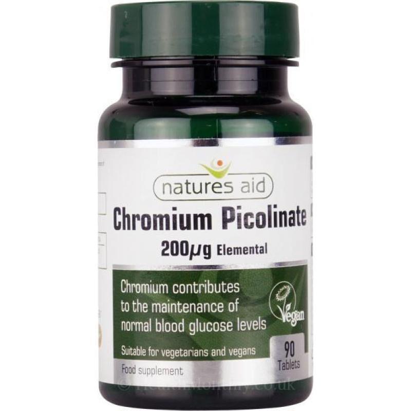 Natures Aid Chromium Picolinate 200μg 90 ταμπλέτες