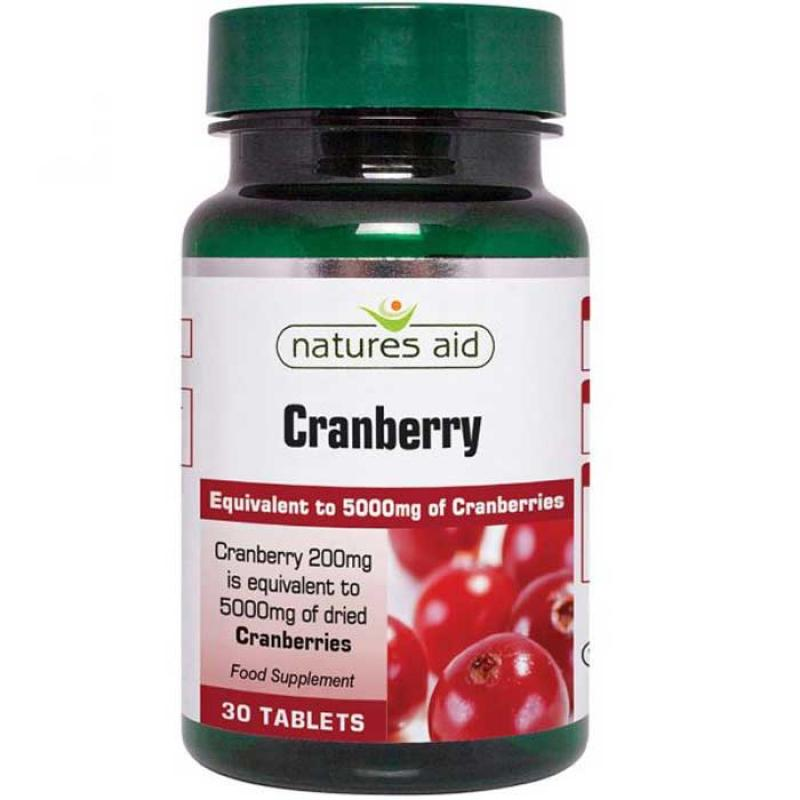 Natures Aid Cranberry 200 mg 30 ταμπλέτες