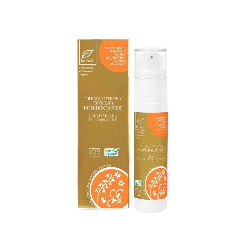 Dr.Taffi Ενυδατική Κρέμα Προσώπου με Αντιγηραντικές Ιδιότητες Organic Dermo purifying Face Cream 30ml