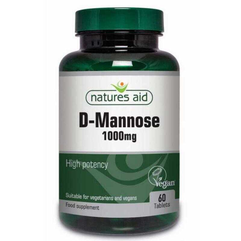 Natures Aid D Mannose 1000mg 60 ταμπλέτες