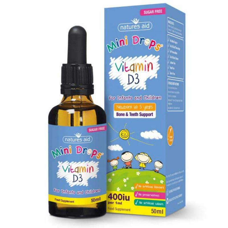 Natures Aid Vitamin D3 Drops for Kids 50 ml