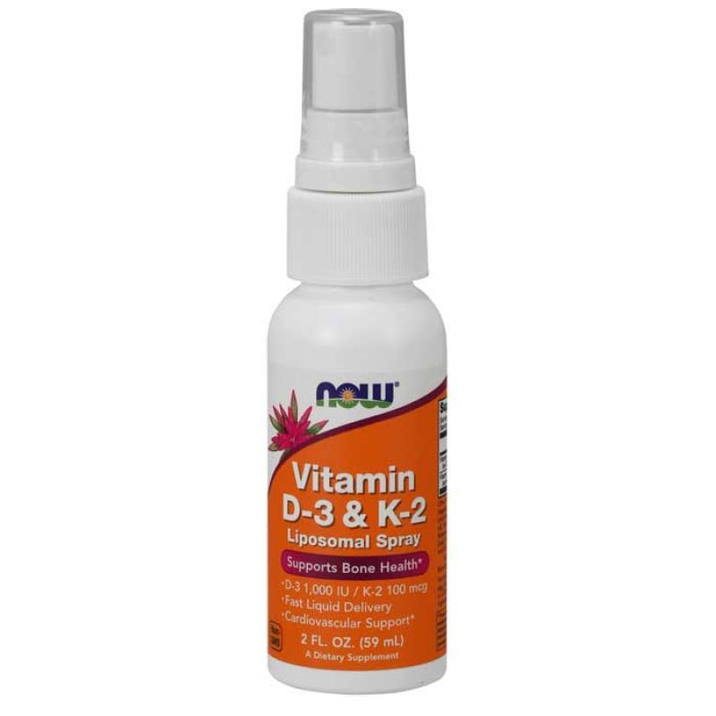 Now Foods Vitamin D3 & K2 Liposomal Spray 59 ml