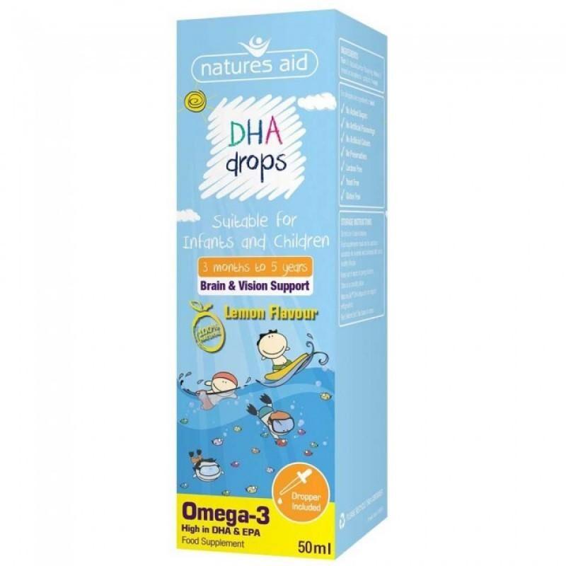 Natures Aid DHA Drops Omega-3 για Βρέφη και Παιδιά 50 ml