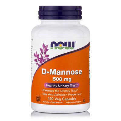 Now D-Mannose 500mg 120 Κάψουλες