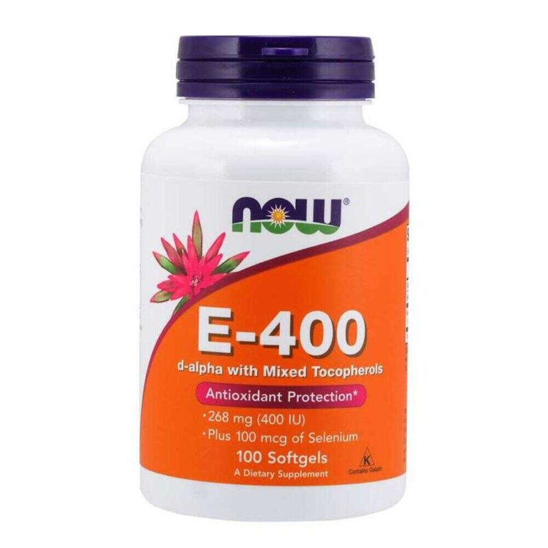 Now Foods Vitamin E-400 IU 100 Μαλακές κάψουλες