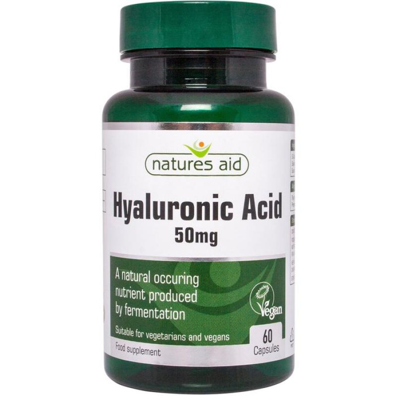 Natures Aid Hyaluronic Acid 50mg 60 κάψουλες