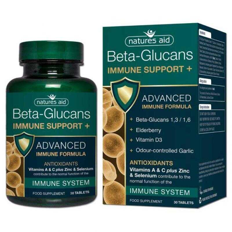 Natures Aid Immune Support+ with Beta Glucans 30 ταμπλέτες