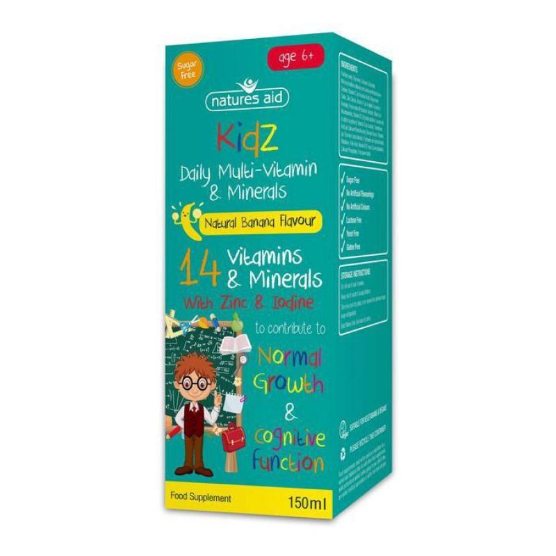 Natures Aid Kidz Multi-Vitamin & Minerals 150ml