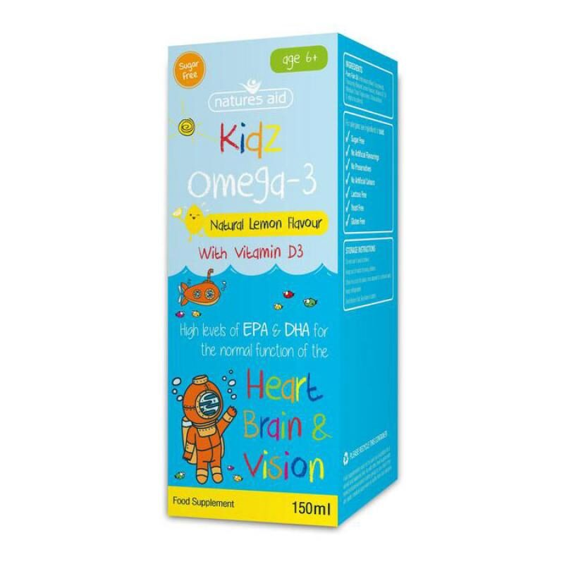 Natures Aid Kidz Omega-3 with Vitamin D3 150ml
