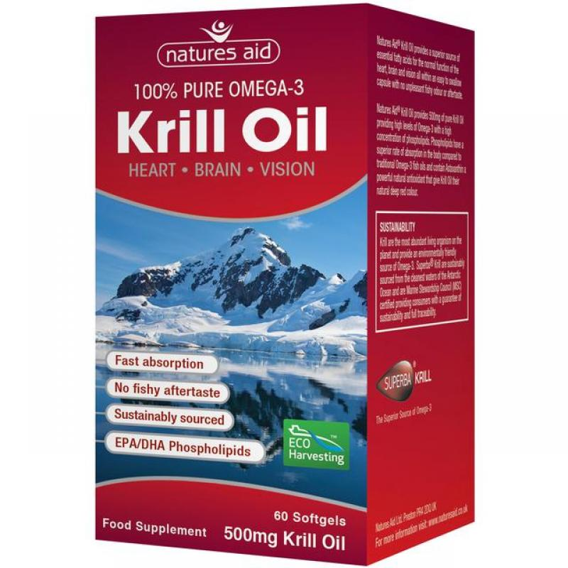 Natures Aid Krill Oil Superba 500mg 60 μαλακές κάψουλες