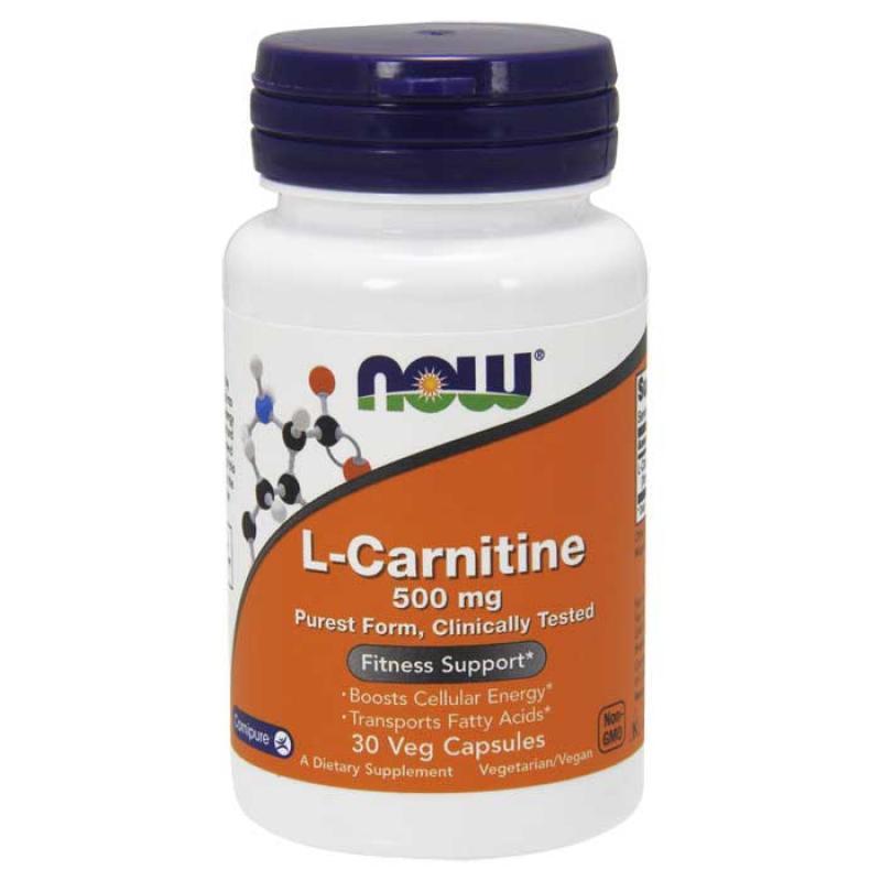 Now Foods L Carnitine 500mg 30 κάψουλες