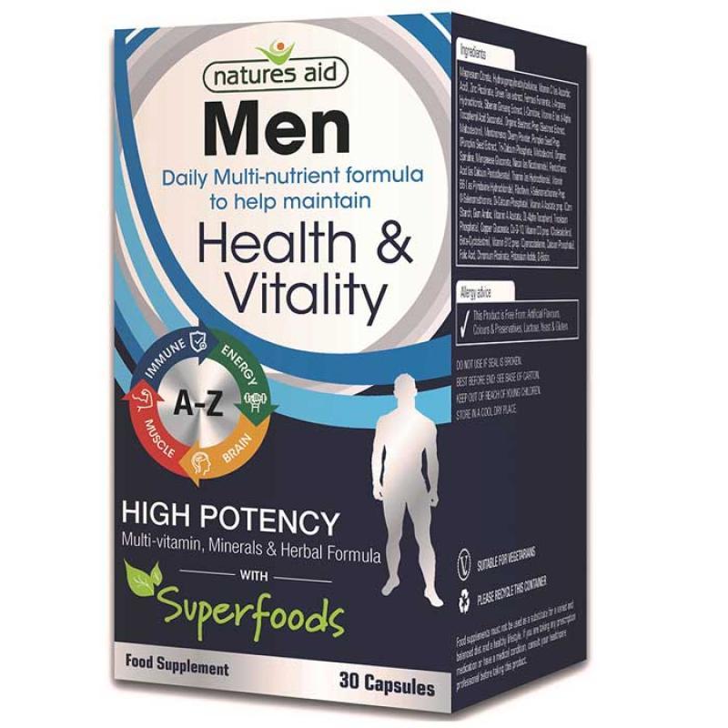 Natures Aid Men's Multi Vitamins & Minerals 30 κάψουλες