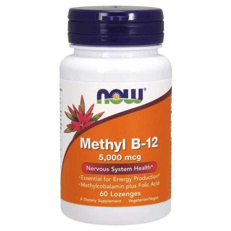 Now Foods Methyl B12 5000 mcg 60 παστίλιες