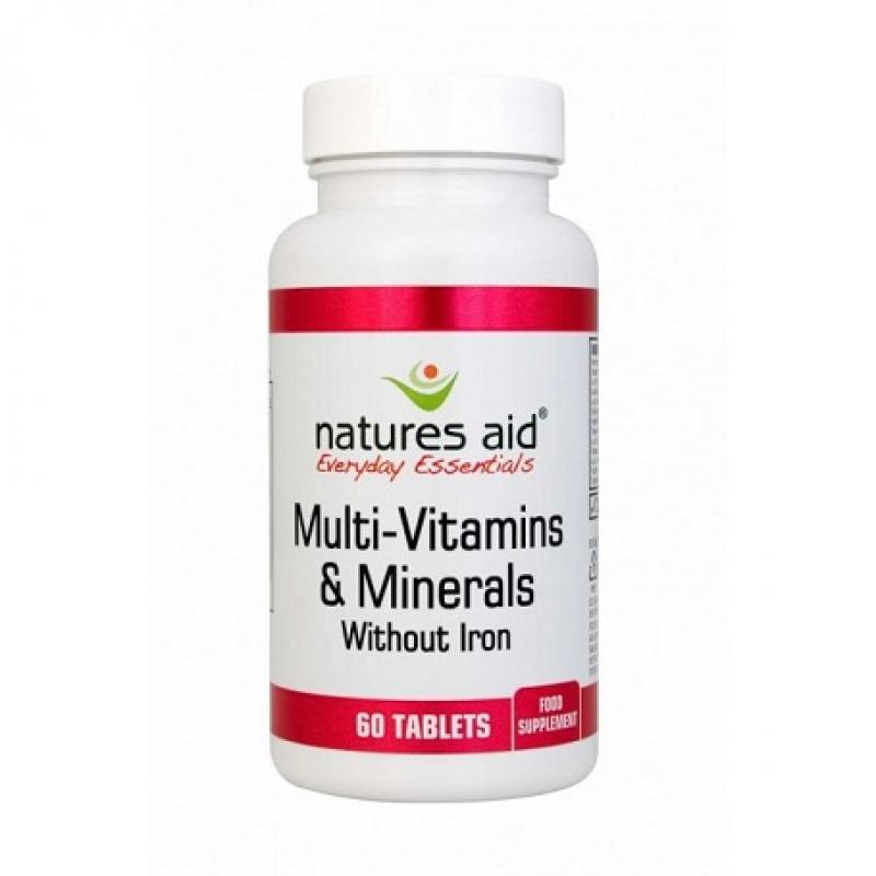 Natures Aid Multi-Vitamins & Minerals Iron Free 60 ταμπλέτες