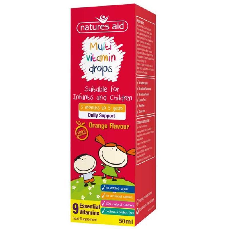 Natures Aid Multi-vitamin Drops για Βρέφη και Παιδιά 50 ml