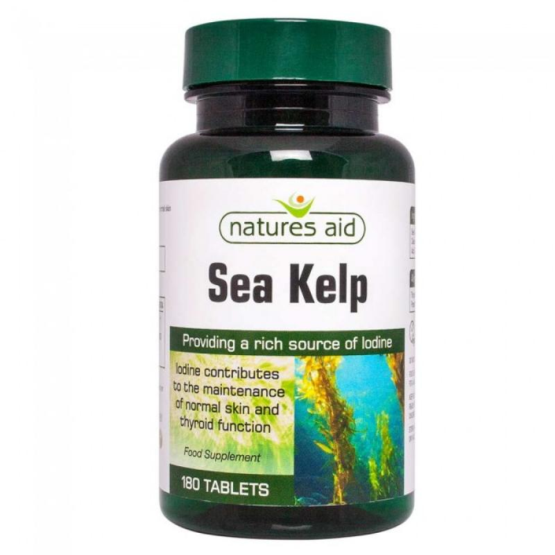 Natures Aid Sea Kelp 187mg 180 ταμπλέτες
