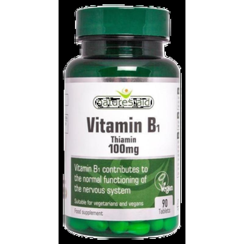 Natures Aid Vitamin B1 Thiamin 100 mg 90 ταμπλέτες