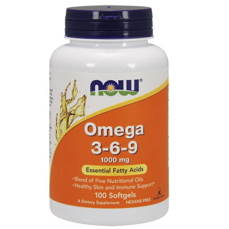 Now Foods Omega 3-6-9 1000mg 100 μαλακές κάψουλες