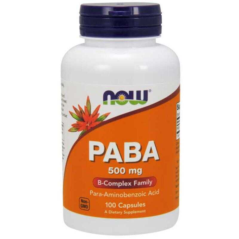 Now Foods Paba 500 mg 100 κάψουλες