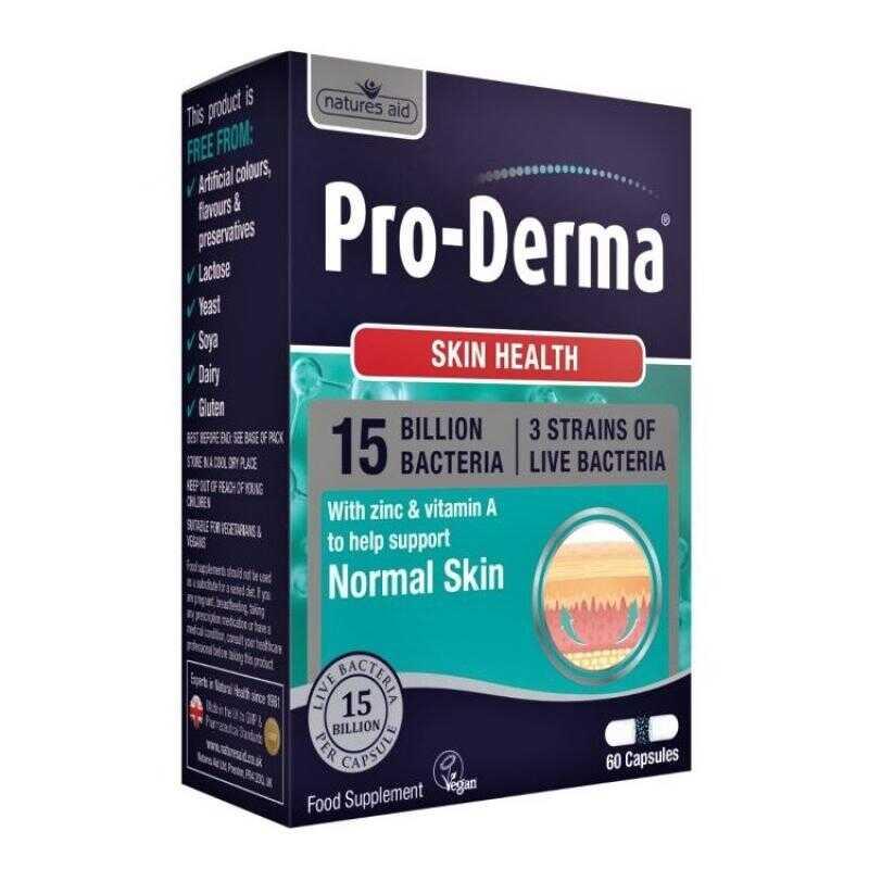 Natures Aid Pro-Derma Skin Health 60 κάψουλες