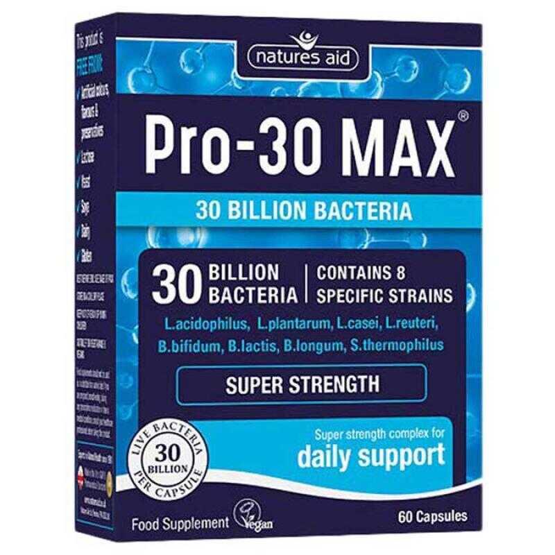 Natures Aid Pro-30 Max 60 φυτικές κάψουλες