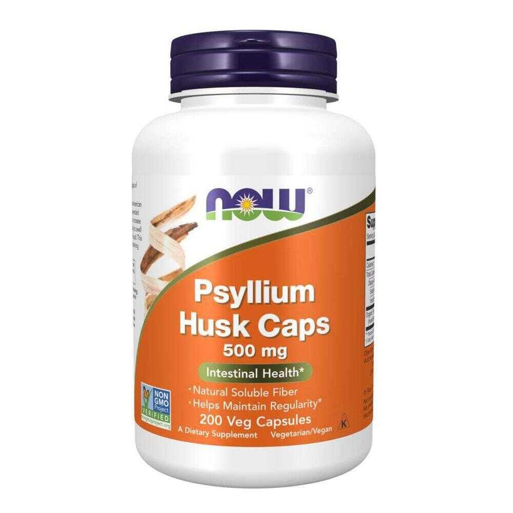 Now Foods Psyllium Husk 500mg 200 κάψουλες