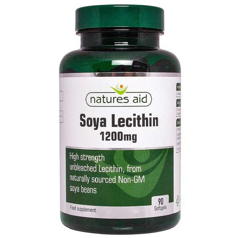 Natures Aid Lecithin 1200mg 90 κάψουλες