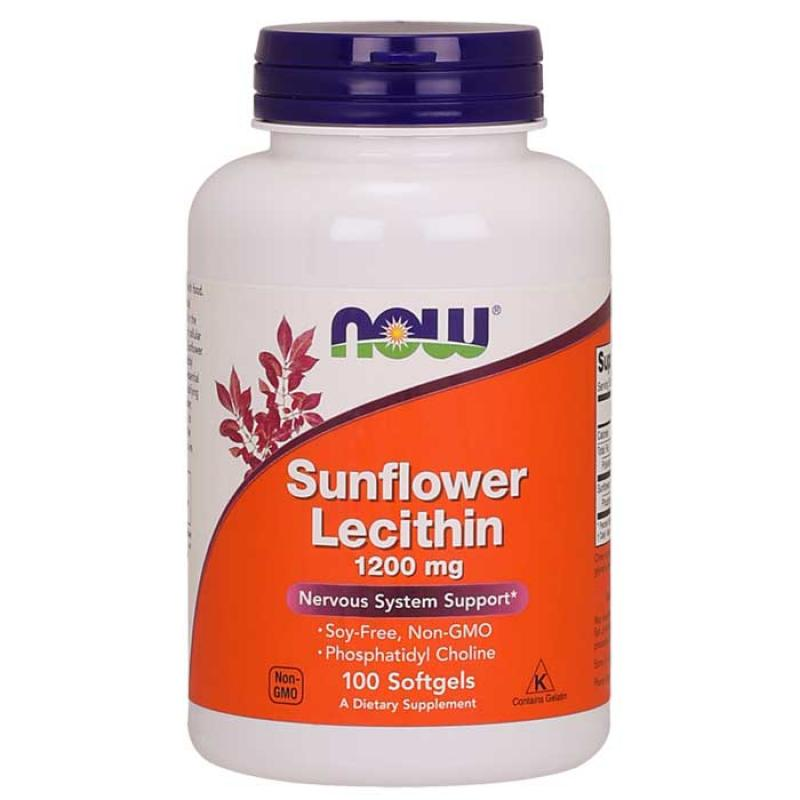 Now Foods Sunflower Lecithin 1200mg 100 μαλακές κάψουλες
