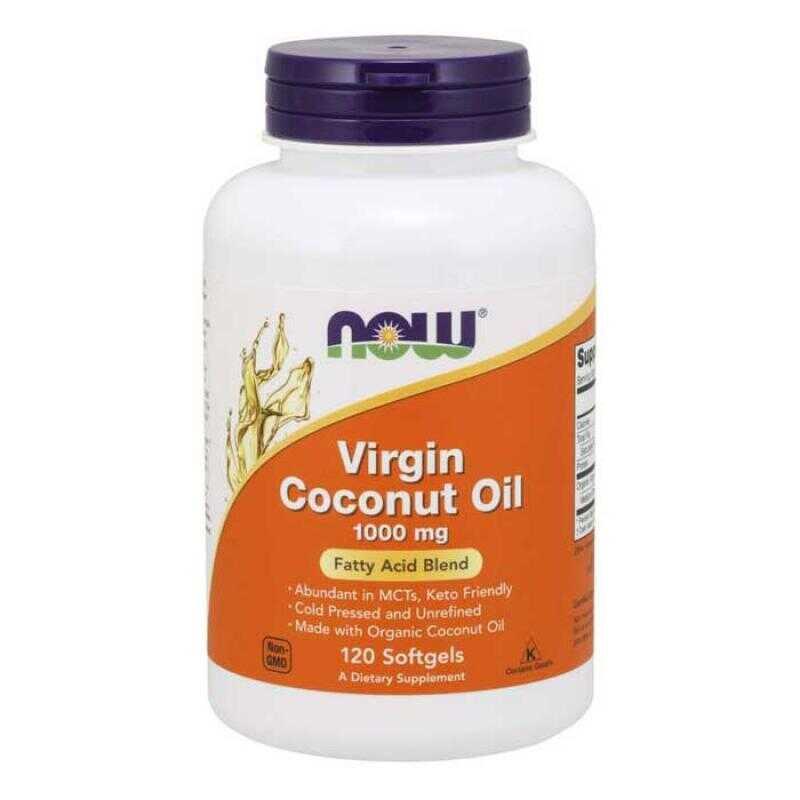 Now Foods Virgin Coconut Oil 1000 mg 120 μαλακές κάψουλες