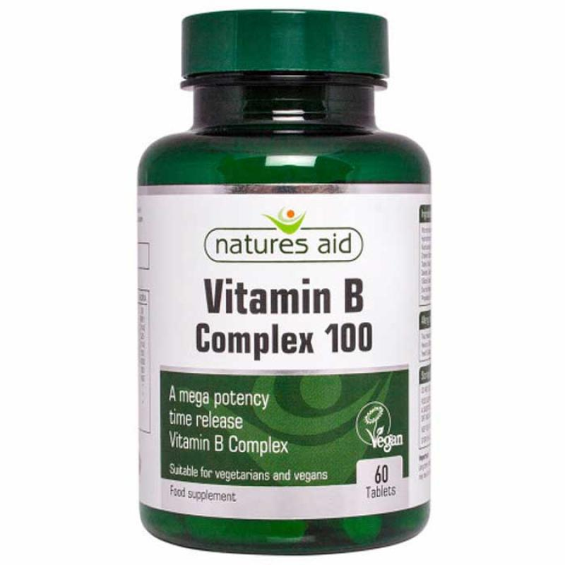 Natures Aid Vitamin B Complex Mega 60 ταμπλέτες