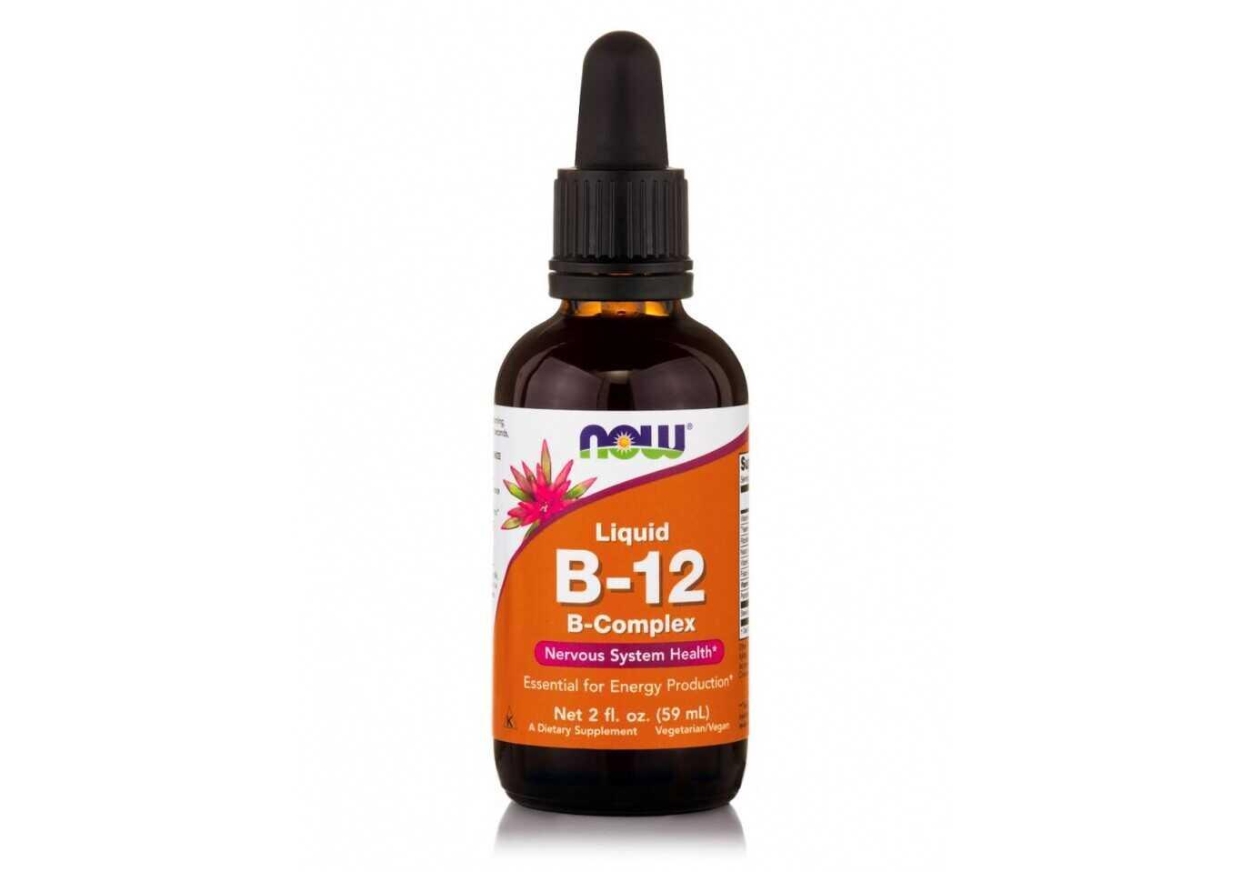 Now Vitamin B-12 Liquid Complex Vegeterian 59ml