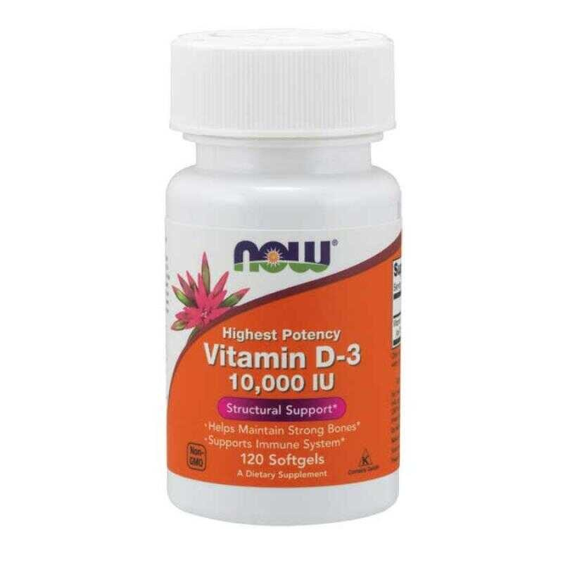 Now Foods Vitamin D3 10000iu 120 μαλακές κάψουλες