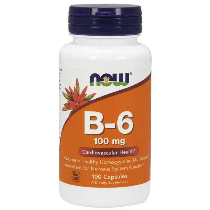 Now Foods Vitamin B6 100mg 100 κάψουλες