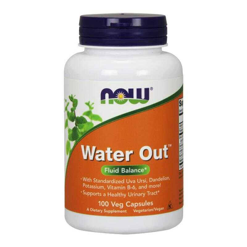 Water Out 100 vcaps - Now Foods