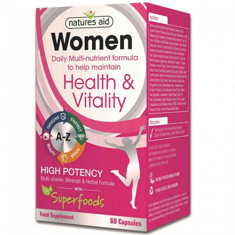 Natures Aid Women's Multi-Vitamins & Minerals 60 κάψουλες