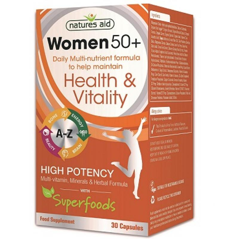 Natures Aid Women 50+ Multi-Vitamins & Minerals 30 κάψουλες