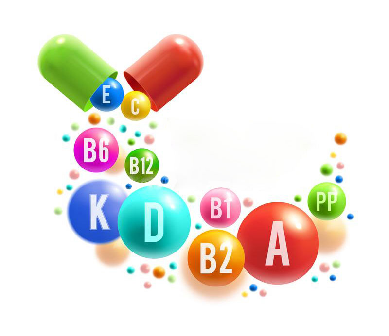 vitamin healthy life poster colorful pill ball multivitamin spilled out vitamin capsule natural food supplement